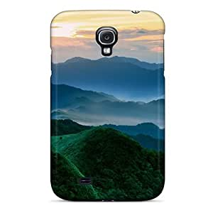 Brand New S4 Defender Case For Galaxy (green Mountains In The Morning) by supermalls