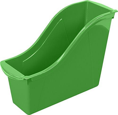 "Storex Small Book Bin, 11.75 x 4.5 x 8.5"", Green, Case of 6 (71111U06C)"