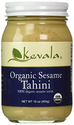 Kevala 16 oz Glass Jar Organic Tahini Kevala International LLC