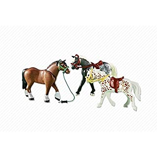 PLAYMOBIL 3 Racing Horses Playset
