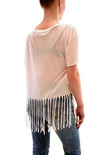 Wildfox Mujer Pony Dream Fringed Rainbow Top Blanco