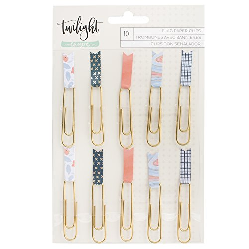 One Canoe Two 10 Piece Paper Clips Flags Twilight Embellishments