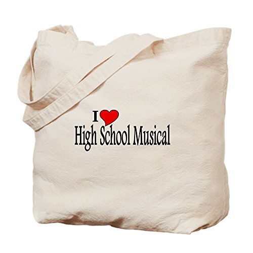 CafePress–I Love High School Musical–Gamuza de bolsa de lona bolsa, bolsa de la compra Medium caqui