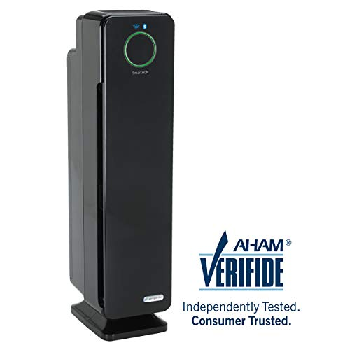 "GermGuardian CDAP5500BCA 28"" 4-in-1 WiFi Smart Air Purifier, Air Quality Monitor, Voice Control, HEPA Filter, UVC Sanitizer, Traps Allergens, Smoke, Odors, Mold, Dust,Germs, 5Yr Warranty Germ Guardian"