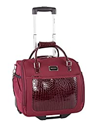 Simon Chang Exotik East/West Business Case on Wheels, Red, International Carry-On (Model:SC0455070)