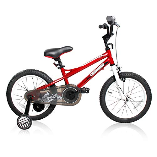 COEWSKE BMX Cycling Kid Bikes Children Bicycle for Girl and Boy 12-16 Inch with Training Wheel (Bright Red, 16 Inch) ()