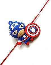 Kids Captain America Designer Rakhi, Raksha bandhan Gift for your Brother,Rakhi for Brother,Rakhi Bracelet,Rakhabandhan Rakhi,Rakshabandhan Festival (ZZ)