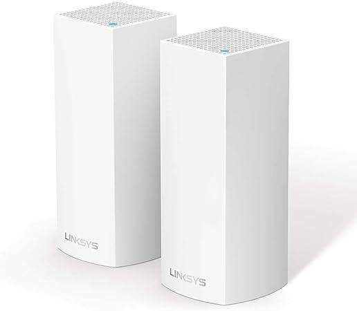 Linksys WHW0302 Velop sistema de mesh Wi-Fi tribanda para toda la casa (router/extensor WiFi AC2200, 350 m² de cobertura, controles parentales, 2 nodos, blanco)