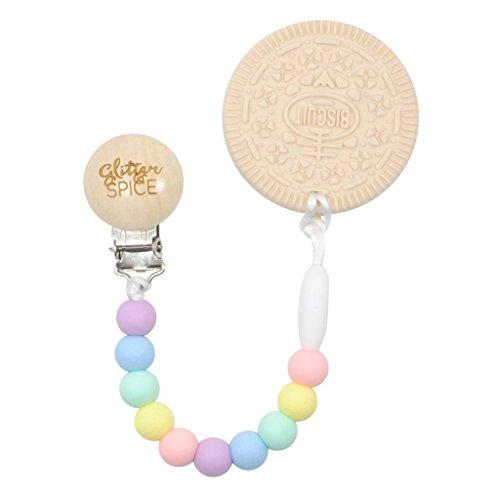 Calories Oreo Cookie - Glitter and Spice Vanilla Cookie Teether, Rainbow