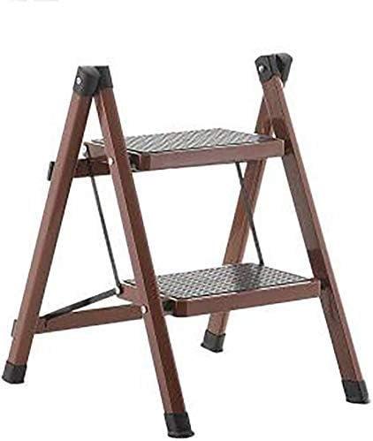 Taburete plegable, fácil y multifunción, plegable, escalera para niños Escalera de 2 peldaños Escaleras Taburetes para peldaños Escalera de hogar Escalera de aislamiento de peldaño de hierro, metal gris: Amazon.es: Hogar