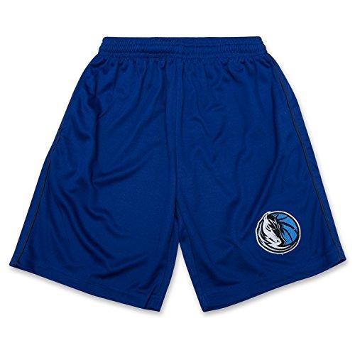 NBA Boys Solid Mesh Athletic Sports Shorts With Elastic Waistband and Logo Dallas Mavericks Royal Navy - Maverick Shorts