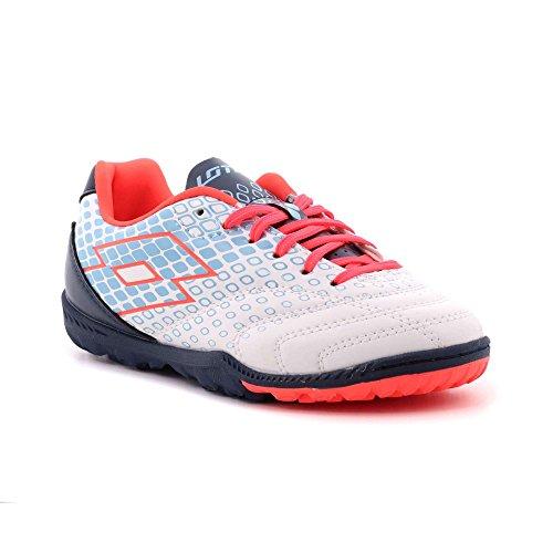 Lotto - Zapatillas de Material Sintético para niño blanco/azul