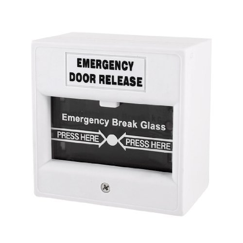 Water & Wood White Security Alarm Fire Breakglass Button ...