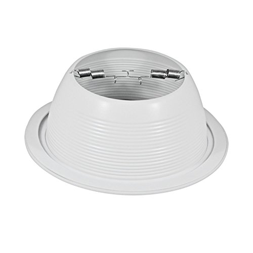 Pack of 24-6'' White Baffle Trim with White Ring for 6'' Recessed Can Lighting - Replaces BR30/PAR30/R30 by Four-Bros Lighting (Image #3)
