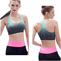 Sports Bra Yoga Seamless Crop Bra Gradient High Stretch Breathable Top Fitness Padded Sport Push-Up Running Gym for…