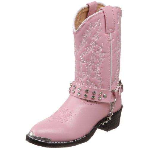 Durango Kids BT568 Lil' 8 Inch,Pink Bling,1.5 D (Girls Cowboy Boots Pink)
