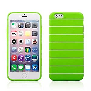 """Topforcity Stripes Soft TPU Protective Case for Apple iphone 6 (4.7"""") + Screen protector (green)"""