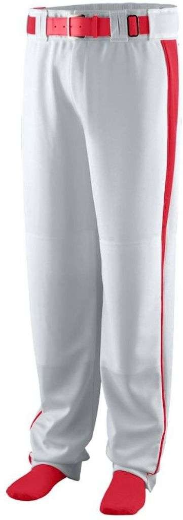 Augusta SportswearメンズTriple Play Baseball Pant B00HJTON8K L|Silver Grey/Red Silver Grey/Red L