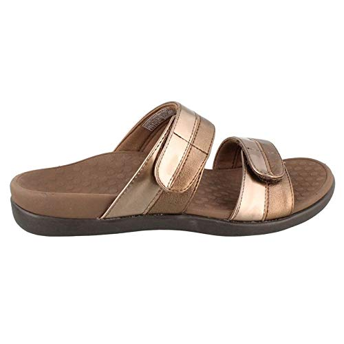 Vionic Women's Orthaheel Technology Women's Shore Slide,  Bronze, 10 B(M) US
