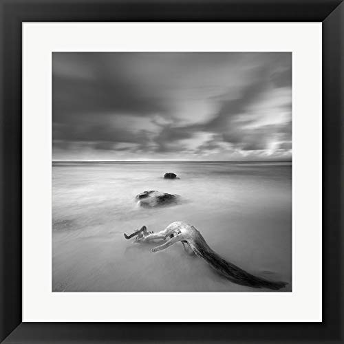 (Cozumel Zen by Moises Levy Framed Art Print Wall Picture, Flat Black Frame, 20 x 20 inches)