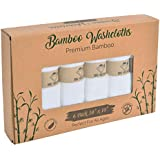 """Bamboo Washcloths by BE WOW 6 Pack Ultra Soft Baby Bath Washcloths, Rayon from Bamboo Towels, Perfect Baby Gifts 