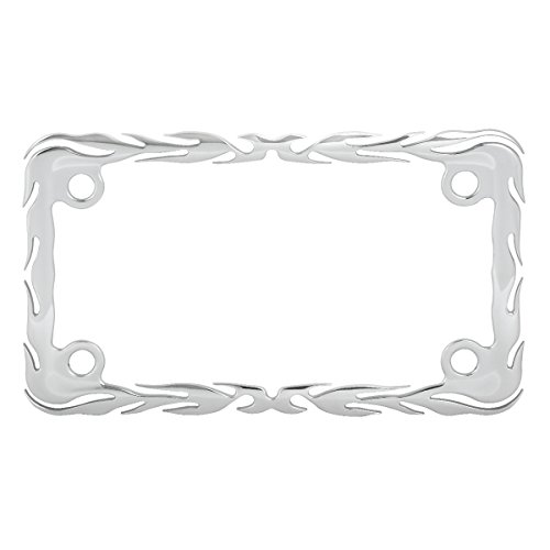 Grand General 60393 Chrome Flame Motorcycle License Plate Frame (Chrome Motorcycle Frames)