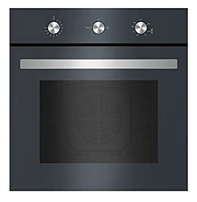 "Empava 24"" Black Tempered Glass Built-in NG/LPG Convertible Broil/Rotisserie Gas Single Wall Ovens 1500W + 2500W EMPV-24WOD04"