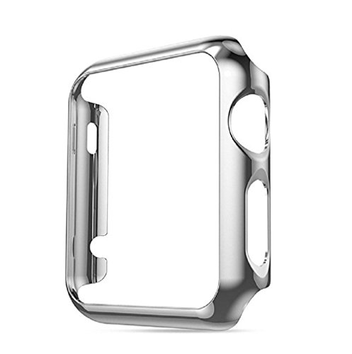 Apple Watch Case 38 mm 42 mm Series 2, Thin PC Plated Plating Protective Bumper Case For iWatch 38 mm 42 mm 2st Generation (Silver, 42mm)