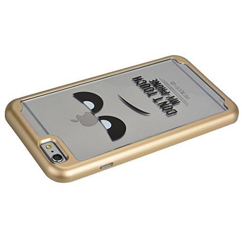 iPhone 6 / 6S Coque HB-Int 3 en 1 Transparente TPU Housse Etui pour iPhone 6 / 6S 4.7'' Do Not Touch My Phone Coque Gel Silicone Souple Arri¨¨re Case + Dur PC Edge Couverture L¨¦g¨¨re Slim Cover Flexi