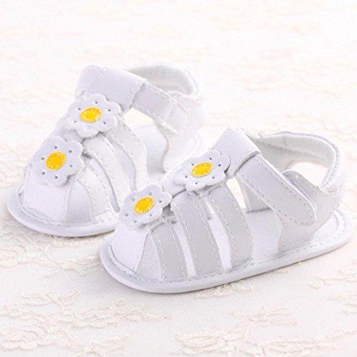Sandalias para bebés, RETUROM Moda flor suave suela antideslizante zapatillas sandalias de niño bebé Amarillo