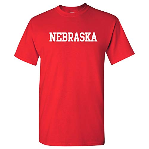 AS01 - Nebraska Cornhuskers Basic Block T-Shirt - Small - Red (Nebraska Athletics Cornhuskers)