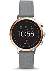 Fossil Damen Digital Smart Watch Armbanduhr mit Silikon Armband FTW6016