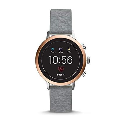 Fossil Damen Digital Smart Watch Armbanduhr mit Silikon Armband FTW6016 1