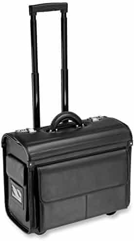ALL-STATE LEGAL Leather Litigation Bag, Rolling Bag, Catalog Case, Briefcase, 18