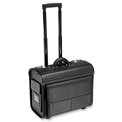 - ALL-STATE LEGAL Leather Litigation Bag, Rolling Bag, Catalog Case, Briefcase, 18
