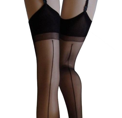 15 Denier Seamed Stockings (Black)