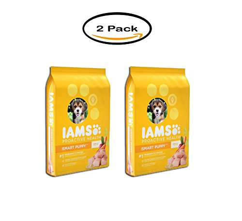 PACK OF 2 - IAMS PROACTIVE HEALTH Smart Puppy Dry Puppy Food 15 Pounds