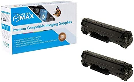 CRG-125J 2//PK-3000 Page Yield SuppliesMAX Compatible Replacement for Canon LBP-6000//6020//6030//6040//MF-3010 Jumbo Toner Cartridge 3484B001AAJ/_2PK
