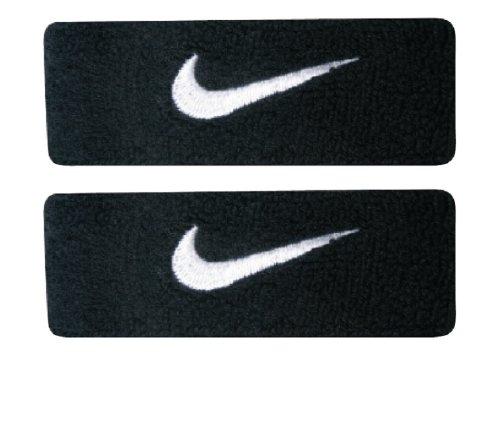 Nike Baseball Wristbands (Nike Swoosh Bicep Bands (Black/White, Osfm))