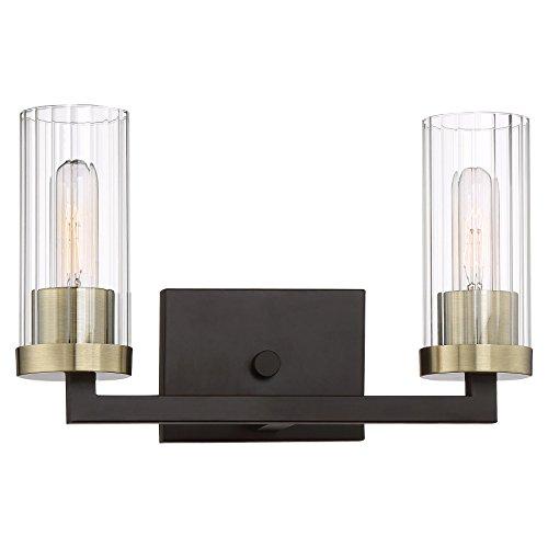 Minka Lavery Wall Light Fixtures 3042-560 Ainsley Court Bath Vanity Lighting, 2-Light 120 Watts, Aged Kinston Bronze -