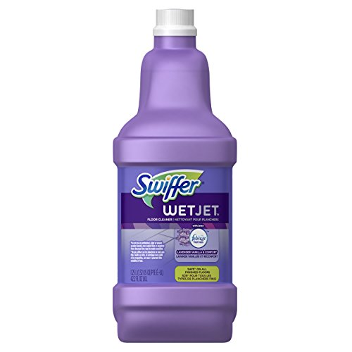 Swiffer WetJet Floor Cleaner Solution Refill, Lavender Vanilla & Comfort, 42.2 fl oz