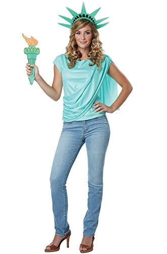 California Costumes Women's Miss Liberty Adult Woman Costume, Mint Green Large ()