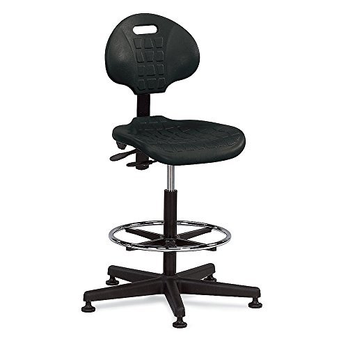 Image of Bevco 7500 Ergonomic Standard Chair, 18' Dia. Adjustable Chrome, Reinforced Plastic Base, 21' to 31' Height Adjustment, Black Chairs & Sofas