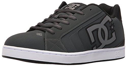 DC Mens Net Lace-Up Shoe, Gris/Gris/negro, 40.5 D(M) EU/7 D(M) UK