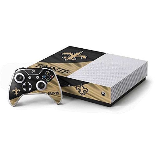 New Orleans Controller Saints (Skinit NFL New Orleans Saints Xbox One S Console and Controller Bundle Skin - New Orleans Saints Design - Ultra Thin, Lightweight Vinyl Decal Protection)