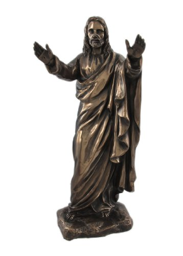 Pacific Trading Christ Blessing Bronze Finish Jesus Statue Christian Religious Figure 8847