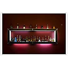 Bar Alcohol Shelf Drinks Bottles 5752 Metal Plate Tin Sign Poster Wall Decor (20*30cm) By Jake Box