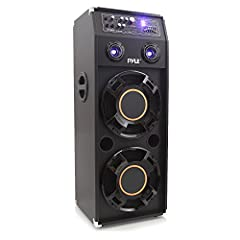 PylePro Model : PSUFM1245ADisco Jam Powered PA Speaker System1400 Watt Disco Jam Powered Two-Way PA Speaker System w/ USB & SD Readers, FM Radio, 3.5mm AUX Input & DJ Flashing Lights Dual 12'' Subwoofer and Two 3'' Piezo TweetersUSB F...