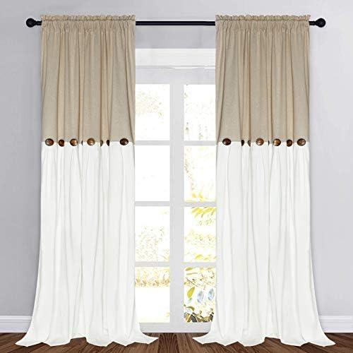 Farmhouse Cotton Blend Curtains