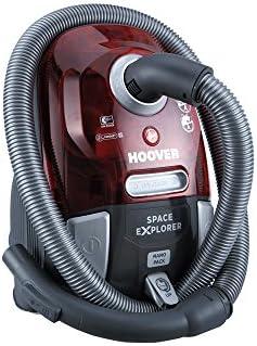 Hoover SL71_SL60 Space Explorer Aspirateur traineau sans sac compact technologie cyclonique, 700 W, 3 liters, rubinrot-Transparent/Titanium